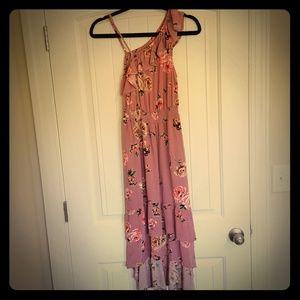 Love Fire One Shoulder Floral Dress